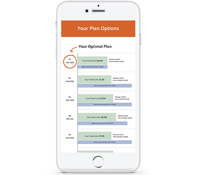 Phone comparing plan options