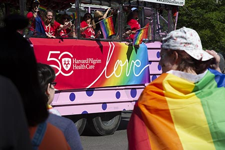 Harvard Pilgrim Pride Parade 2019 Bus