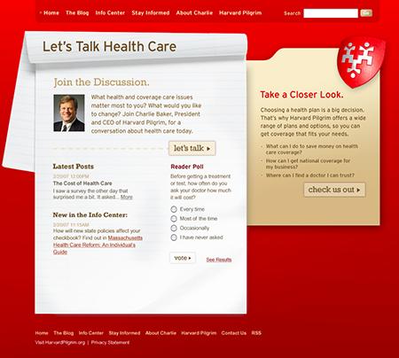 Let's Talk Health Care website